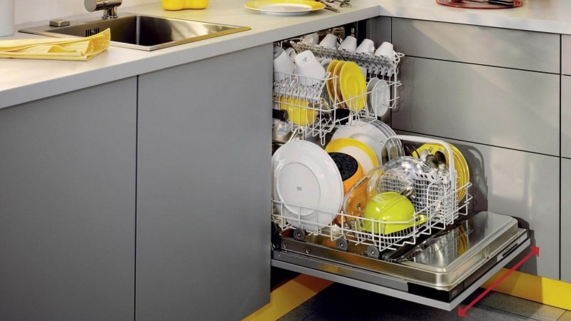 عدم تخیلیه آب در ماشین ظرفشوئی