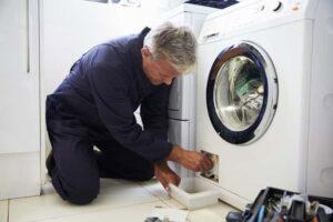 آب در ماشین لباسشویی خاموش