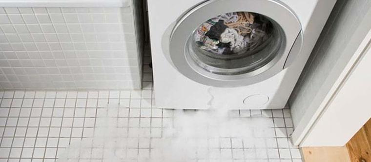نشت آب از زیر لباسشویی